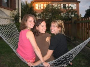 Teri, me, and Rachel at the beginning of my (and Rachel's) second year.